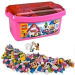 LEGO Pink Brick Box Large, 402 Piece set – $20!