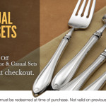 Additional 30% Off Sale at Oneida On Service for 4, 8 & 12 Flatware Sets!!