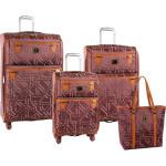 Diane von Furstenberg Modern Tile 4 Piece Spinner Luggage Set, Only $207.95! (Orig. $320)