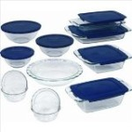 Pyrex 19 Piece Bakeware Set with Blue Plastic Cover, $28.99 (Reg. $50)