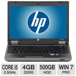 HP ProBook 13.3″, i5 4GB, 500GB HDD – $599!