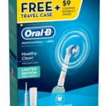 Oral-B Professional Healthy Clean Precision 1000 Power Toothbrush w/Bonus Travel Case