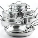 Amazing: Calphalon Tri-Ply Stainless Steel Cookware, 13 Piece Set + Calphalon 7 Piece Utensils Set, + 12″ Calphalon Unison Nonstick Pan, Just $299! (Reg. $639)