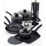 Tools of the Trade Family Nonstick Cookware, 18 Piece Set – $37.49!