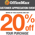 OfficeMax: 20% Off Entire Purchase Coupon