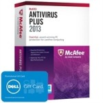 McAfee AntiVirus Plus 2013 for 3 Users – for $29.99 only and get $50 PROMO eGift Card!