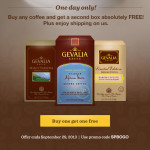 One Day Only: Buy 1 Get 1 FREE On All Gevalia Coffee + Free Shpping!