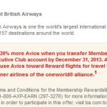 American Express Membership Rewards Points Bonus For Transfers To British Airways (20%) and Virgin Atlantic (30%)