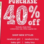 Gymboree: 40% Off Entire Purchase!