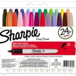 Sharpie Fine Point Permanent Markers, 24 Colored Markers – $11