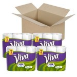 24 Viva Paper Towels, Choose-a-Size, White, Big Rolls For $26.43 w/Free Shipping