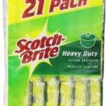 21 Pack Scotch Brite Anti Bacterial Heavy Duty Sponge – $10.16 w/Free Shipping!