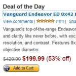 Today Only – Vanguard Endeavor ED Binocular (8×42) For Only $199.99 Shipped! (Reg. $429.99!)