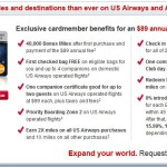 US Airways Mastercard w/40,000 Bonus Miles & No Minimum Spend Requirement!
