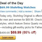Today Only – 86% Off Select Stührling Original Watches