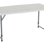 Lifetime 4 Foot Adjustable Height Folding Table Now at $28.93!