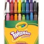 Crayola Mini-Twistables Crayons, 24pk For $2.50 – Crayola Classic Crayons, 24pk For $0.50