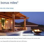 Convert Your Starwood Starpoints into USAirways Miles & Earn 20% Bonus Miles