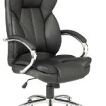 Black Leather Executive Office Desk Task Chair w/Metal Base For $79.99 Shipped!