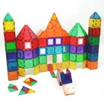 Award Winning Playmags Magnetic Tiles Deluxe Building 100 Piece Set with Car For $79.99 Shipped!
