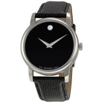 Movado Museum Black Dial Black Leather Strap Mens Watch – $249.99 w/Free Shipping!