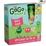 GoGo SqueeZ Applepeach Applesauce (Pack of 48) For $19.20-$22.80 Shipped!