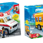 PLAYMOBIL Rescue Ambulance & PLAYMOBIL School Bus For Just $15!