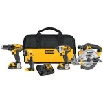 DEWALT 20V MAX Lithium-Ion 4-Tool Combo Kit On Sale at Amazon For $249 Shipped!