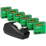 Scotch Magic Tape, 6-Pack with Black Dispenser For $9.48!