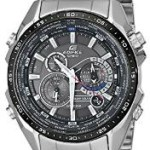 "Casio Men's ""Edifice"" Solar Stainless Steel Multi-Function Watch Just $120 w/Free One Day Shipping!"