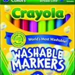 Crayola 8 Count Washable Bright Markers For Only 97¢!
