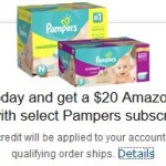 Sign Up For a Free Trial of Amazon Mom & Get A FREE $20 Amazon Gift Card + 20% Off Diapers!