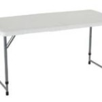 Lifetime 4 Foot Adjustable Height Folding Table Now at Just $35.11