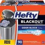 90 Count Hefty BLACKOUT Tall Kitchen Drawstring 13 Gallon Trash Bags – $9.48 – $10.83 + Free Shipping