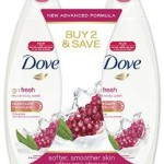 2-Pack of Dove Go Fresh Body Wash w/Nutrium-Moisture, 29 Oz. Just $4.84-$5.54!