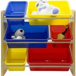 Everyday Space Saving Kid's Toy Storage Organizer with Bins For just $19.99!