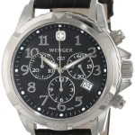 Wenger Men's Chrono Stainless-Steel Black Leather Band Watch Only $123 Shipped!