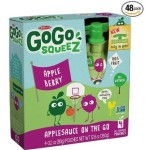 Case of 48 GoGo squeeZ Applesauce On The Go – Apple Berry – 3.2oz For Only $20.20 w/Free Shipping!