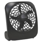 Portable 5 in Battery-Operated Fan in Black For Just $6.88