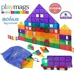 Award Winning Playmags Magnetic Tiles Deluxe Building Set 100 Piece Set with Car For $79.99!