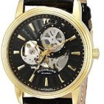 Stuhrling Men's Classic Delphi Acheron Automatic Skeleton Leather Watch Only $63.99!