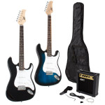 Full Size Electric Guitar + 10 Watt Amp + Gig Bag Case + Guitar Strap Beginners Just $64.99 w/Free Shipping