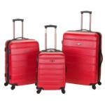 Rockland Luggage Melbourne 3 Piece Abs Luggage Set – $115.08 w/ Free Shipping!