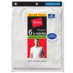 Hanes Men's Six-Pack of V-Neck T-Shirts For $12.46