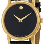 Movado Museum Black Dial Black Leather Mens Watch For Just $249.99 Shipped!