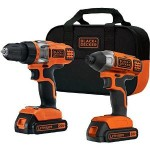 Black & Decker 20-Volt MAX Lithium-Ion Drill/Driver and Impact Driver w/ 2 Batteries Just $85.91 + Free Shipping!