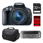 Canon EOS Rebel T5i DSLR Camera With 18-55mm Lens + PIXMA PRO-100 Printer + Photo Paper + 32GB SD Card + Case For Just $399!! (AR)