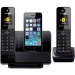 Panasonic DECT 6.0 1.9 GHz Link2Cell with iPhone5 Integration w/ 2 Handsets Only $129.95! (Was $199.95)