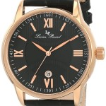 Lucien Piccard Men's Clariden Black Textured Dial Watch Only $34.99!