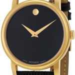 Movado Museum Gold Tone Black Leather Mens Watch – $249.99 w/ Free Shipping!